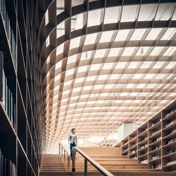 """Библиотека """"Подземный лес"""" в Китае. Смотрите весь проект по клику на изображение. https://admagazine.ru/inter/113046_biblioteka-podzemnyy-les-v-kitae.php."""