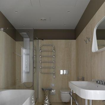 Ванная облицована керамогранитом, Arch-skin.