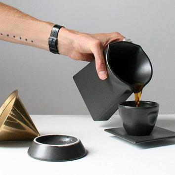 Эстетичные пуровер и сет для кофе
