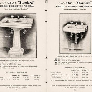 Первые модели керамических раковин Roca.
