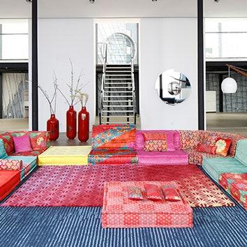 Новая обивка дивана Mah Jong от Kenzo