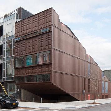 Дом из контейнеров в Нью-Йорке