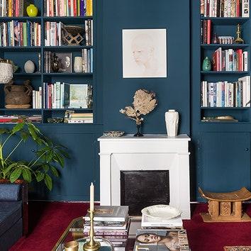 Синяя квартира в Париже, 50 м²