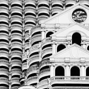 Архитектура в объективе: черно-белые Бангкок и Сингапур