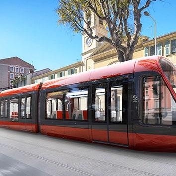 Трамвай по дизайну Оры Ито