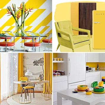 Как оформить: 35 желтых интерьеров