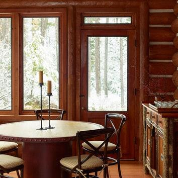 Как оформить бревенчатый дом: 10 лучших примеров