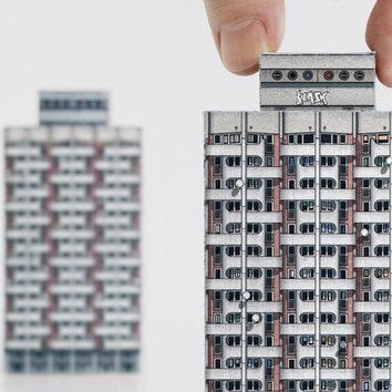Бумажный конструктор по мотивам советской архитектуры