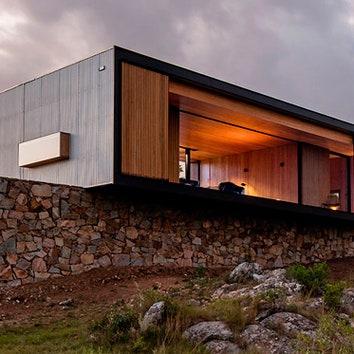 Дом-контейнер в горах Уругвая