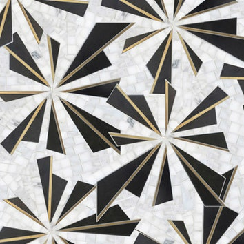 Каменная мозаика в стиле ар-деко