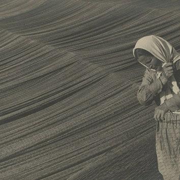 Михаил Прехнер. Починка сетей на Волге, 1934.