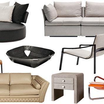 21 предмет мебели с кожаной отделкой