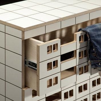 Мебель в виде панельных домов