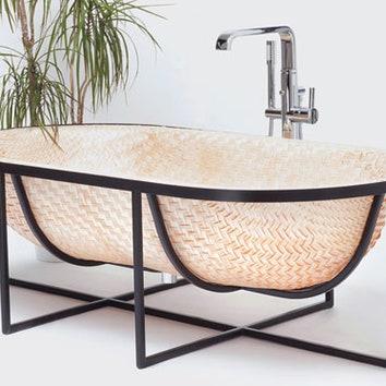 Плетеная ванна