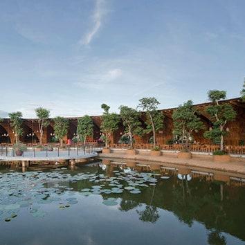 Бамбуковый ресторан в Ханое