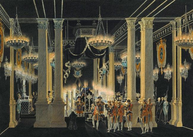 Chapelle mortuaire du duc de Berry au Louvre en fvrier 1820 1822