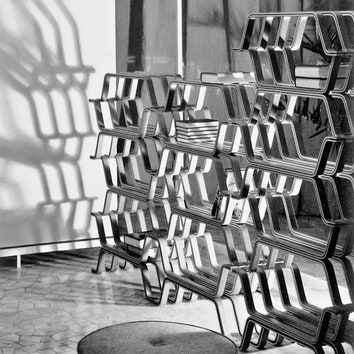 Прототип стеллажа поэскизам Ясухико Ито, Molteni & C, 1959 год.