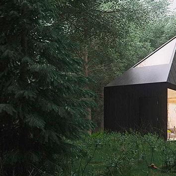 Лесной домик для чтения и отдыха