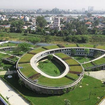 Детский сад с огородом на крыше во Вьетнаме
