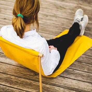 Переносное складное кресло-шезлонг