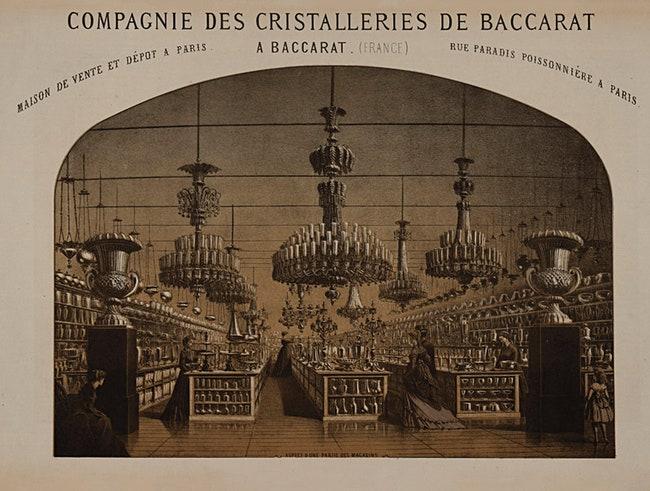 Baccarat    30 bis rue de Paradis  1832 .
