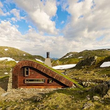 Домик в норвежских горах, 35 м²
