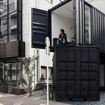 Офис из контейнеров в центре Токио