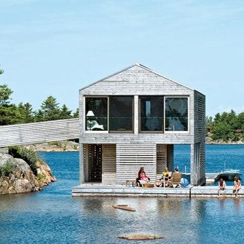 Плавучий дом в Канаде