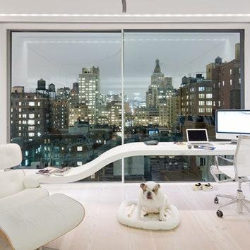 Белый лофт в Нью-Йорке