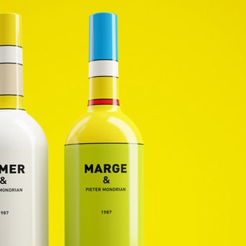Наше русское: упаковка бутылки Simpsons & Пит Мондриан