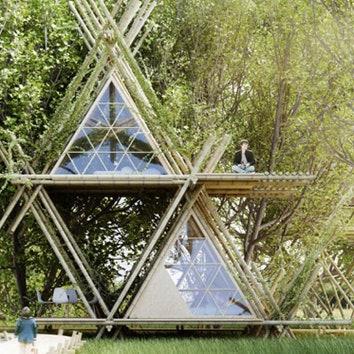 Отель из бамбуковых модулей
