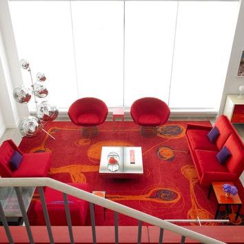 Красочная квартира-дуплекс в Нью-Йорке