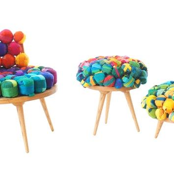 Мягкая мебель из шелковых обрезков