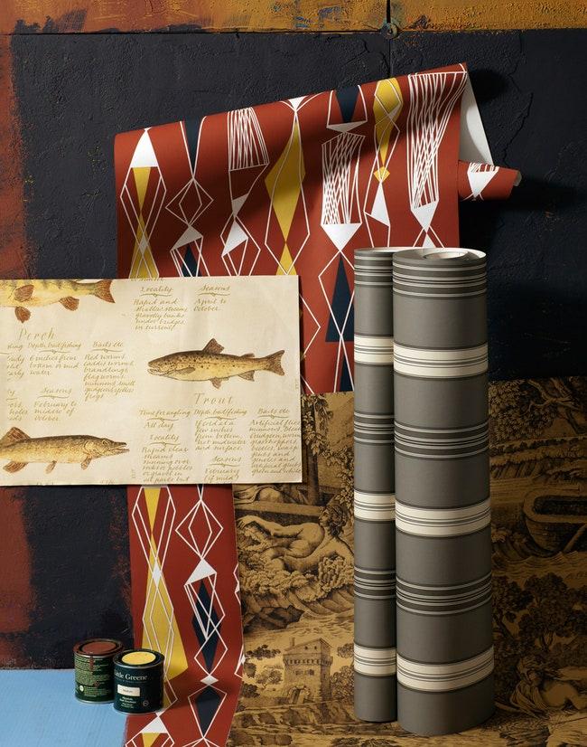 European Freshwater Fishes  Lewis amp Wood 1080         Little Greene 3500 .  5   Eco Revival 5682  Eco Wallpaper 1960 ....
