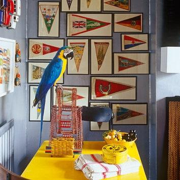 Квартира декоратора Хьюберта Зандберга в Лондоне