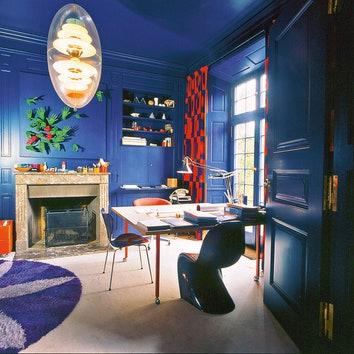 Кабинет Вернера Пантона в доме в районе Биннинген, Базель, где он жил с 1972 года.