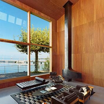 Дом в Швейцарии, архитекторы Михаэль Видриг и Даниель Кауфманн.