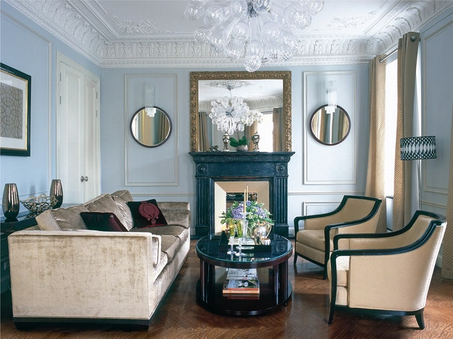.   Salon Chair       Oval Coffee Table Baker.          .      .             .         .        1960  Beacon Hill.      ...