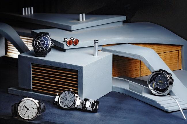 Chanel  Transatlantique   Cartier.     Contemporaine BiRetrograde DayDate     Vacheron Constantin  Ronde Solo  Cartier  ...