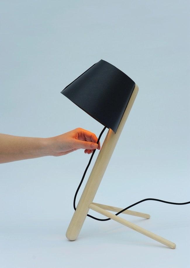 Pine lamp.
