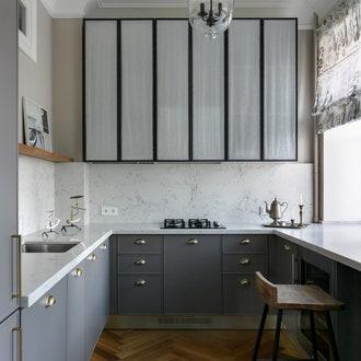 П-образная кухня по проекту Марии Пилипенко