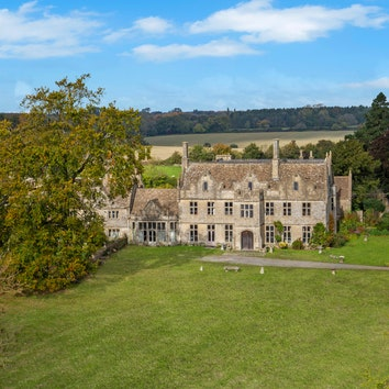 exterior of a very old English country house